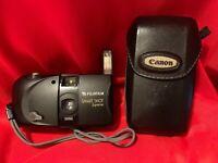 Vintage  FUJI  Smart  Shot  Supreme  Camera  &  Case ... 35mm