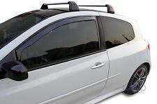 Renault Clio mk3 3 Door  2005-2012 Front wind deflectors 2pc TINTED HEKO