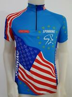 MAGLIA SHIRT CICLISMO SPINNING STAR TRAC TAG.M CYCLING ITALY MAILLOT BICI MB243