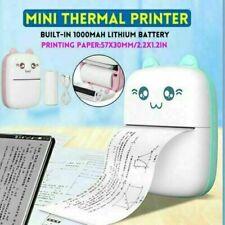 Tragbare Mini Wireless Bluetooth Drucker Thermal Foto Foto Etikettendruck NEU