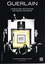 PUBLICITE ADVERTISING 045  2014  GUERLAIN    pour homme IDEAL  parfum