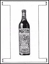 PUBBLICITA' 1927 MARTINI & ROSSI TORINO BOTTIGLIA VINO VERMOUTH GRAN PRIX DRINK