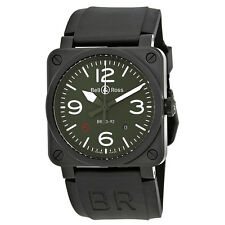 Bell and Ross Military Type Olive Dial Automatic Mens Watch BR0392-MIL