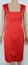 Vestiti da donna rossa lunghezza al ginocchio sintetico