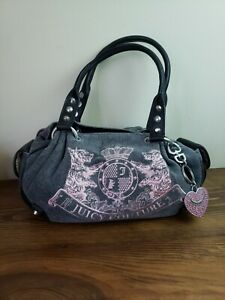 Juicy Couture Baby Fluffy Bag Scottie Grey Pink Purse