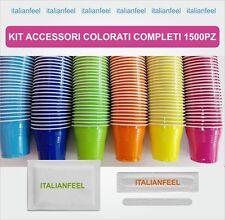 1500 PZ KIT ACCESSORI CAFFE COLORATI  COMPLETI SIMILE AL KIT BORBONE 10 X 150