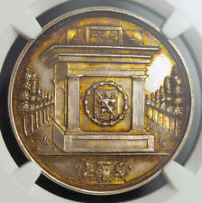 "1823, Netherlands, Haarlem (City). Silver ""Typography Anniv."" Medal. NGC MS-64!"