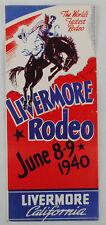 1940 Rodeo Program Livermore, Calif.