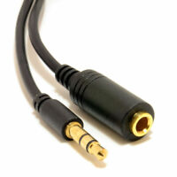 10m Slimline PRO 3.5mm Jack to Stereo Jack Socket Extension Cable [007541]