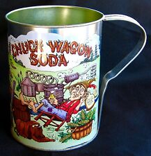 Chuck Wagon Soda Mug With Good O'Boy Next to Still and Sexy Young Lady.