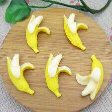 5PCS Miniature Dollhouse Kitchen Banana Food Fruit Home DIY Mini Decor Ornament