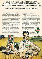 1972 Castrol Motor Oil Race Mario Andretti  v2 Classic Advertisement M3113-H86