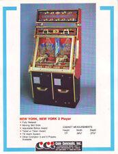 Coin Concepts New York New York Arcade Game Original Sales Flyer Brochure