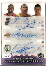 2005-06 Trilogy ANDREW BYNUM MARTELL WEBSTER Gerald Green Triple Auto RC #d 10