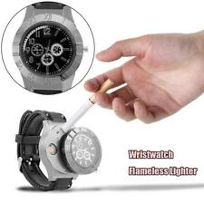 2 in 1 USB Rechargeable Cigarette Lighter Windproof Flameless + Wristwatch Watch