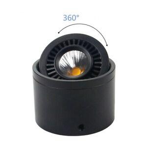 Surface mounted COB LED Downlight 360° rotating Spot Light + Driver AC85-265V