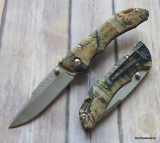 BUCK BANTAM MOSSY OAK FOLDING KNIFE LOCK-BACK WITH POCKET CLIP MADE IN USA