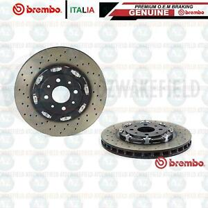 FOR FIAT ABARTH 500 FRONT BREMBO TWO PIECE FLOATING BRAKE DISCS 305mm 51885455