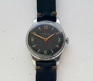 early vintage military Soviet mechanical watch Pobeda 1MChZ. 1950's. USSR