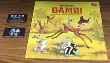 WALT DISNEY BAMBI ILLUSTRATION BOOK AND RECORD PREOWNED