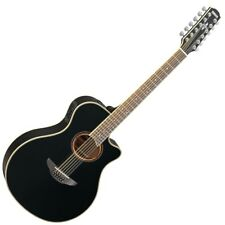 Yamaha APX700II-12 12-String Thinline Acoustic-Electric Guitar - Black