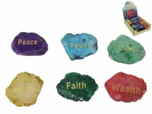 Brand New Gemstone Wishing Stone 5 in a Set ornament House Decor 5 - 6 cm ea