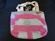 New MV Sport Shoulder Bag Purse Pro-Weave Beachcomber Tote Bag Pink/Gray 3394