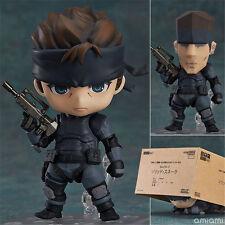New Nendoroid Metal Gear Solid 447# Solid Snake Game PVC Figure Figurine 10CM NB
