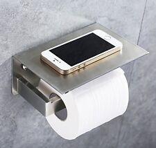 Apl Stainless Steel Toilet Paper Tissue Holder Mobile Phone Storage Shelf Nickel
