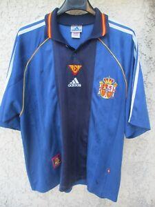 Maillot ESPAGNE SPAIN ESPANA 1999 vintage ADIDAS shirt camiseta away L