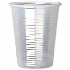 100 Plastic Disposable Clear Cups or Drinking Glasses