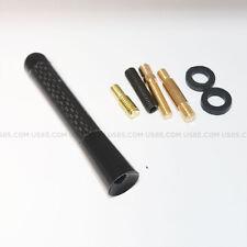 "Black Universal 3.1"" Carbon Fiber Car Radio Antenna Adjustable Aerials fit All"
