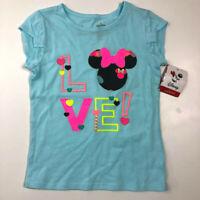 New Jumping Beans Girls 4 Disney Minnie Mouse Love Blue Shirt