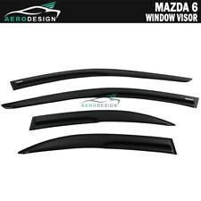 Fit 03-08 Mazda 6 Smoked Aero JDM Wind Deflectors Stick On Window Visors