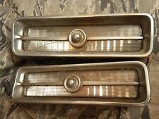 1967 67 Cadillac Deville front LH RH grille marker lights oem