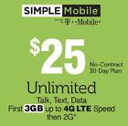 Simple Mobile $25 Reup DIRECT