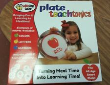 Table Time Tutor Plate Teachtonics for Colors, Letters and Numbers