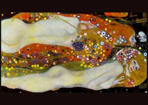 Gustav Klimt water snakes 2 canvas print giclee 8X12&12X17 reproduction poster