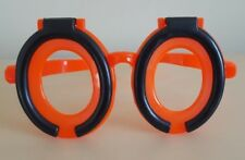 90's Fun Novelty Toilet Seat Joke Prank Humour Orange/Black Big No Lens Glasses