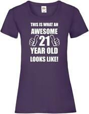 21st 21 Years Old Twenty First Birthday  Presents Womens Funny Awesome T-Shirt