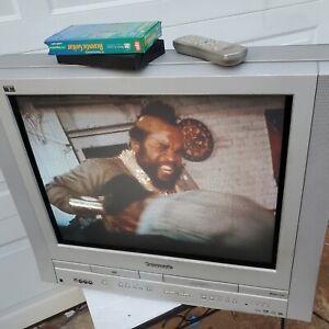 "Panasonic Triple Play PV-DF2004 Television TV/DVD/VCR Combo 20"" + Remote+Manual"
