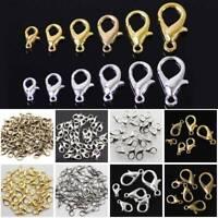 50Pcs Lobster Clasp Hook for Jewellery Making Necklace Bracelet Finding Novelty
