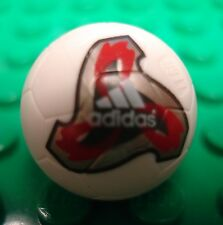 LEGO One White Sports Soccer Ball w/ Official World Cup Ball (Fevernova) Pattern