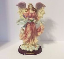 FEMALE GIRL ANGEL FIGURINE ROSES HOLIDAY ANY DAY DECOR PRE-OWNED EXCEL CONDITION