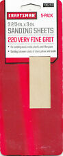 Craftsman 5 pack 220 very fine grit Sanding Sheets Size: 3 2/3 in. X 9 in.