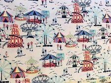 Cotton Inprint By Makower fabric FQ quilting Vintage Fair Fairground