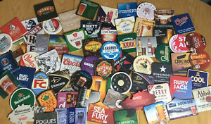 Pack Of 40 Brand New Unused Assorted Beer Mats / Coasters
