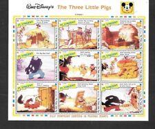 """St. Vincent - 1992 Walt Disney Short Film """"The Three Little Pigs"""" MNH Sheet"""