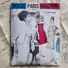 60s JACQUES GRIFFE COUTURE lined dress jacket vintage Vogue Paris Original