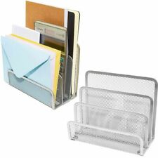 2x Small Metal Desk Organizer Mail Sorter Set for Office School, 6.8x3.4x5.5 in
